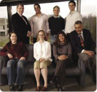 Aboriginal students at the University of Ottawa's Faculty of Medicine, as of April, 2006, with Dr. Dungy