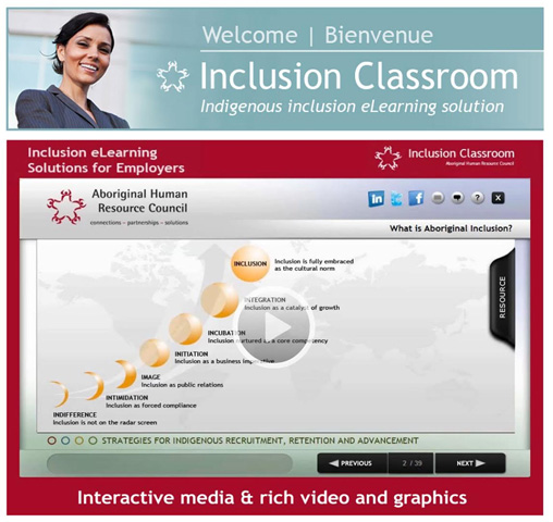 Inclusion Classroom - Indigenous inclusion eLearning solution.